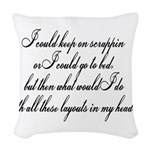 gotobed.png Woven Throw Pillow