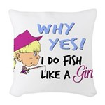 GIRLFISH Woven Throw Pillow