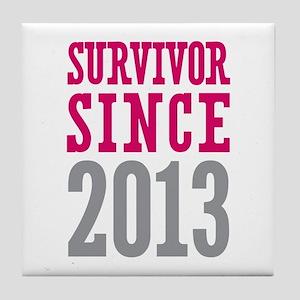 Survivor Since 2013 Tile Coaster
