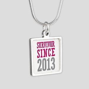 Survivor Since 2013 Silver Square Necklace