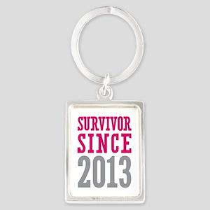 Survivor Since 2013 Portrait Keychain