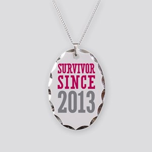 Survivor Since 2013 Necklace Oval Charm