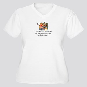 Fishing Housewife Women's Plus Size V-Neck T-Shirt