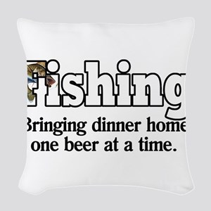 One Beer At A Time Woven Throw Pillow