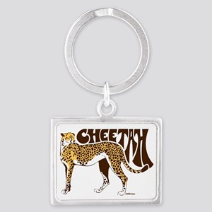 Cheetah Landscape Keychain