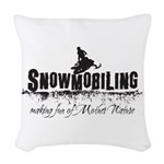 Making Fun of Mother Nature Woven Throw Pillow