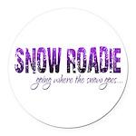 Snow Roadie Round Car Magnet