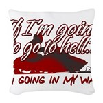Going In My Way Woven Throw Pillow