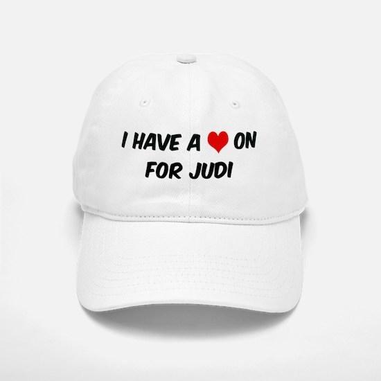 Heart on for Judi Baseball Baseball Cap
