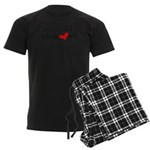 Heart Melt Men's Dark Pajamas