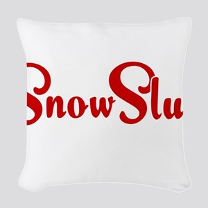 Snow Slut Woven Throw Pillow