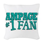 rampages fan.png Woven Throw Pillow