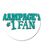 rampages fan.png Round Car Magnet