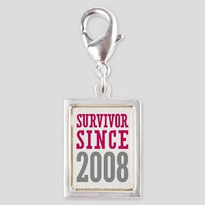 Survivor Since 2008 Silver Portrait Charm