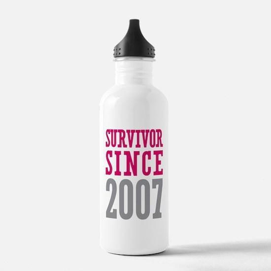 Survivor Since 2007 Water Bottle