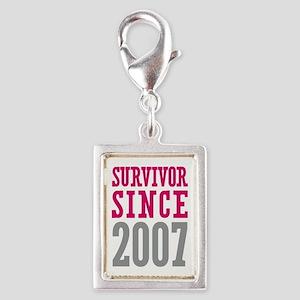 Survivor Since 2007 Silver Portrait Charm