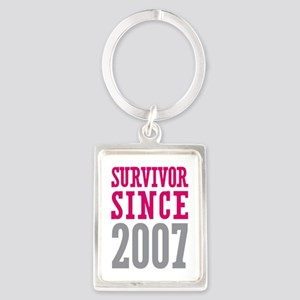 Survivor Since 2007 Portrait Keychain
