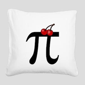 Cherry Pi Square Canvas Pillow