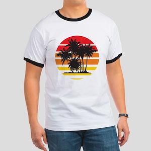 Palm Trees & Sunset Ringer T