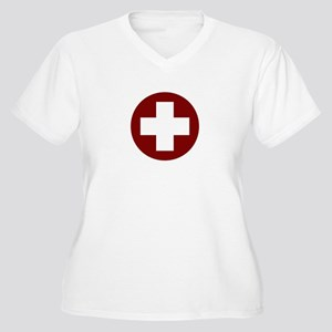 medic_cross_shirt_01 (light) Plus Size T-Shirt