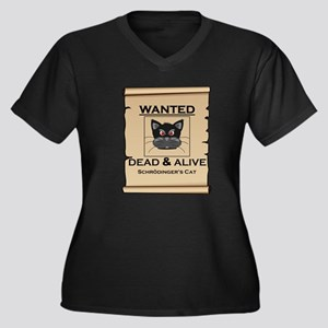 Schrodingers Cat Wanted Poster Plus Size T-Shirt