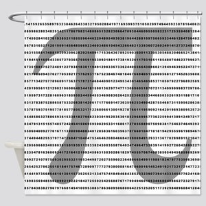 Pi Digits Shower Curtain