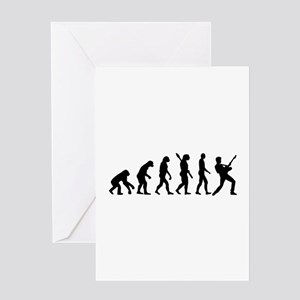 Evolution Rock musician star Greeting Card
