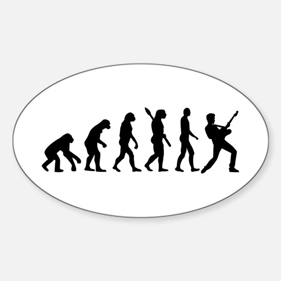 Evolution Rock musician star Sticker (Oval)