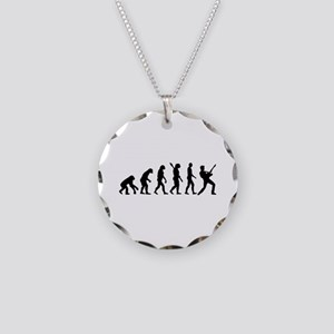 Evolution Rock musician star Necklace Circle Charm