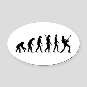 Evolution Rock musician star Oval Car Magnet