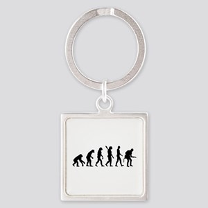 Evolution Rock musician guitarist Square Keychain