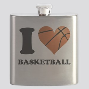 I Heart Basketball Flask