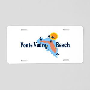 Ponte Vedra - Map Design. Aluminum License Plate