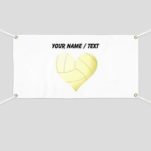 Custom Volleyball Heart Banner