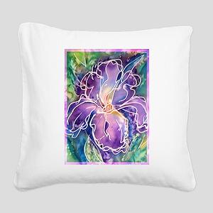 Iris! Beautiful, purple flower, Square Canvas Pill