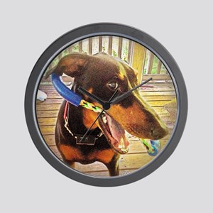 Gracie the Dobie Wall Clock