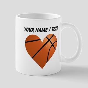 Custom Basketball Heart Mug