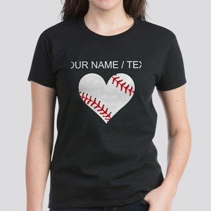 Custom Baseball Heart T-Shirt
