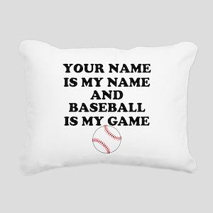 Custom Baseball Is My Game Rectangular Canvas Pill