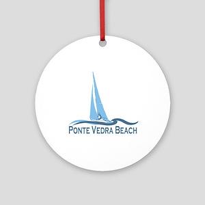 Ponte Vedra - Sailing Design. Ornament (Round)