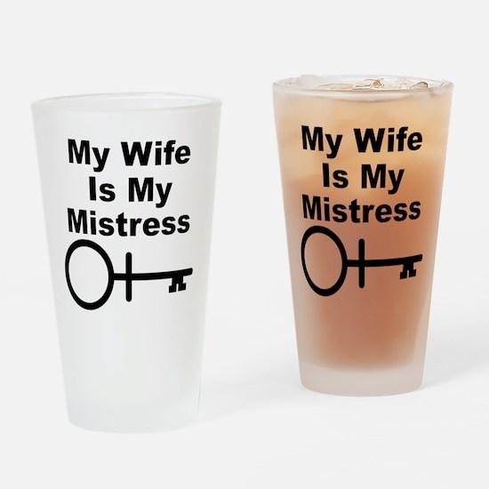 Wife-Mistress Drinking Glass