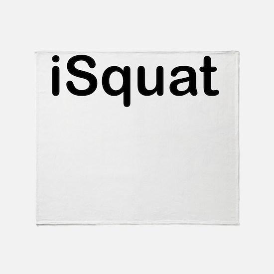 iSquat Throw Blanket