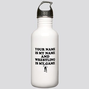 Custom Wrestling Is My Game Water Bottle