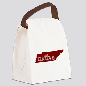 Red Native Canvas Lunch Bag
