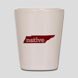 Red Native Shot Glass