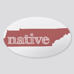 Red Native Sticker (Oval)