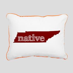 Red Native Rectangular Canvas Pillow