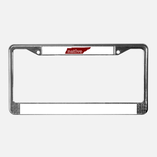 Red Native License Plate Frame