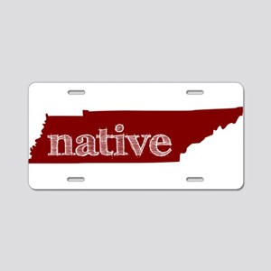 Red Native Aluminum License Plate