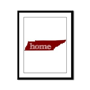 Red Framed Panel Print